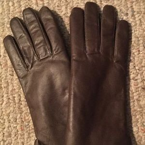 Accessories - Vtg Leather Brown Womens Fur Lined Gloves sz 7 NEW